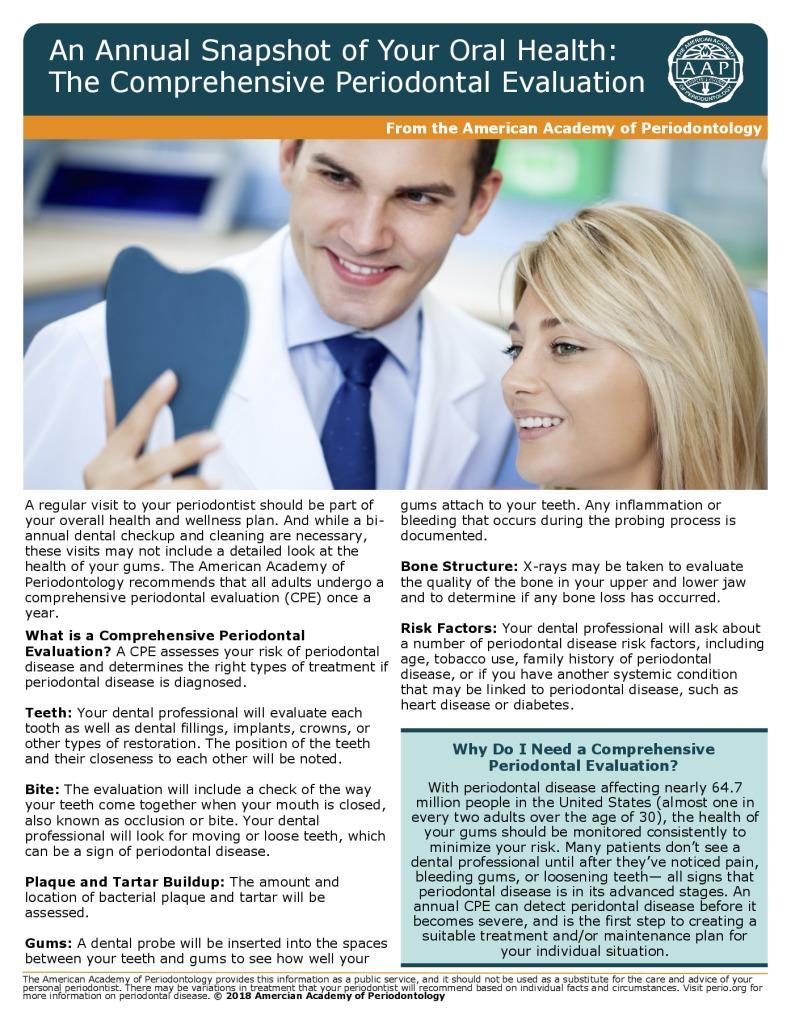Comprehensive Periodontal Evaluation